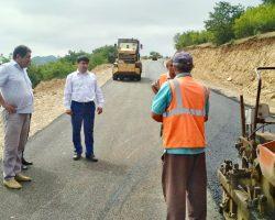 Завершается ремонт автодороги «Кавказ» - Сиртыч - Татиль» на участке км 39- км 41