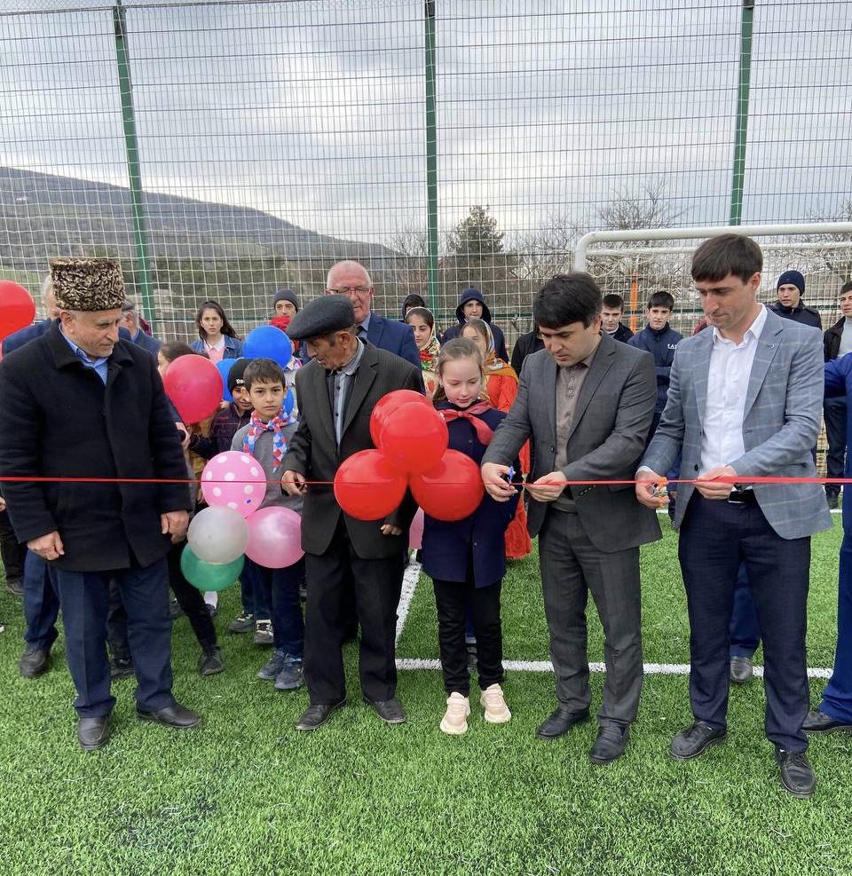 Мини — футбольное поле открыли в Табасаранском районе по проекту «Местные инициативы»
